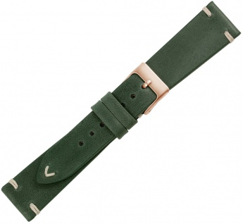 Minott Premium Ersatzband Kalbsleder grün vintage Ziernaht flach