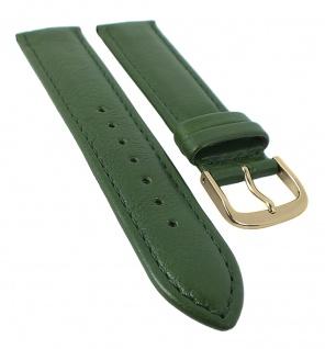 Taurus Uhrenarmband 12mm und 14mm | weiches Kalbsleder grün, mit Naht 30159