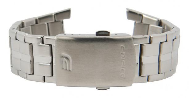 Casio Edifice Uhrenarmband Edelstahl Band Silberfarben für EFA-135D 10428025