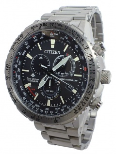 Citizen Herrenuhr Eco-Drive Funk-Chronograph Titangehäuse-, & Band | CB5010-81E