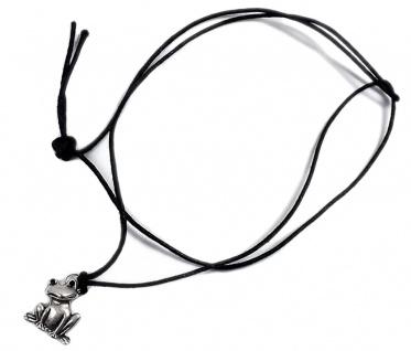 Minott Kette schwarzes Lederband zum verknoten mit Frosch Anhänger 21446