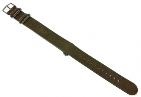 Timex Expedition Uhrenarmband Durchzugsband Leder-Band grün für T4B04100