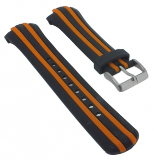 Calypso Ersatzband Kunststoff schwarz mit zwei orangenen Streifen K5501/3 K5501