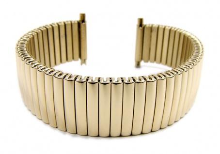 Minott Flex Band Uhrenarmband PVD Gold Zugband mit Teleskop-Anstoß 21100