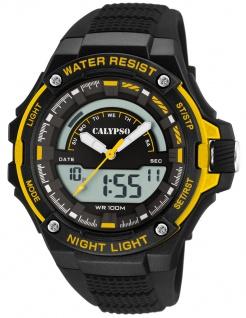 Calypso Digital Armbanduhr PU-Band schwarz Kunststoff Quarzwerk Analog Digitaluhr K5768/4 K5768