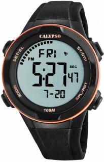 Calypso digitale Armbanduhr | Kunststoffgehäuse & Band > schwarz | Datum > Alarm K5780/6