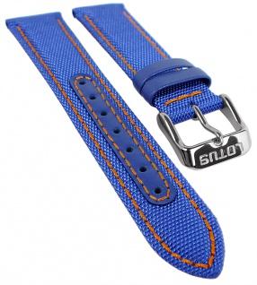Lotus Watches Ersatzband 18mm blau Leder / Textil 18581 18581/2