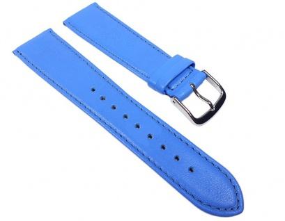 Miami Uhrenarmband Kalbnappa Band Blau / Himmelblau 22576S