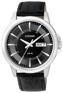 Citizen Basic analoge Herrenuhr Armbanduhr mit Lederarmband BF2011-01E