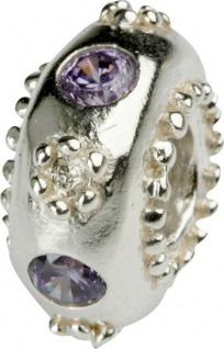Charlot Borgen Marken Damen Bead Beads Drops Silber mit Zirkonia SCZ-12-Lila