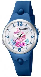 Calypso Kinderuhr analog Quarz Kunststoff blau K5783/7