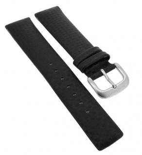 Bruno Banani Uhrenarmband 19mm aus Leder in schwarz in Carbon- Optik CD3194