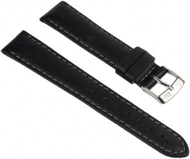Morellato Delta Uhrenarmband Leder Band schwarz 16mm 25393S