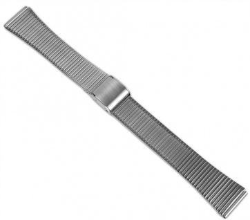 Minott Uhrenarmband Edelstahl Band Silberfarben Schiebeverschluss 18mm 823020001218