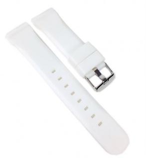 Minott Uhrenarmband Silikon Band Weiss 22459S