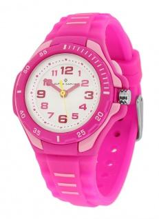 Alpha Saphir Kinder Armbanduhr analog rosa 393D Kunststoff Quarzuhr Silikonband