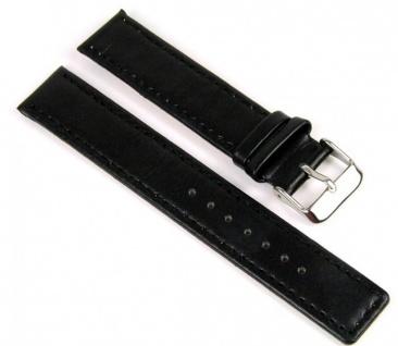 Uhrenarmband Leder Ersatzband Band schwarz 18mm 811110101018S