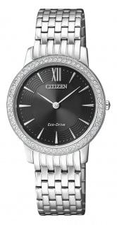 Solaruhr Citizen Eco-Drive Elegant Damenuhr Armbanduhr Edelstahl mit Swarowski Elements EX1480-82E