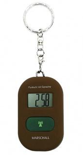 Sprechende Funkuhr Marschall | Quartz-Uhr aus Kunststoff | Digital für Blinde 36864