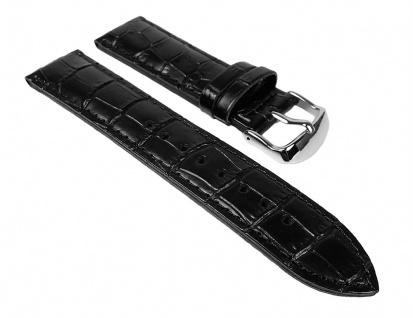 Casio Uhrenarmband Leder Band schwarz 22mm für EFR-531L EFR-531
