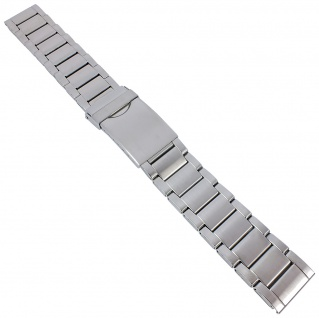 Minott Ersatzband - Edelstahl - silberfarben mit Faltschließe - 18mm / 20mm / 22mm 30621S