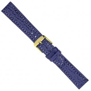 Uhrenarmband Ersatzband Leder Band Blau 26561G