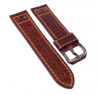 Police Adder Uhrenarmband Leder schwarz mit Naht 24mm für P14536JSBN/02