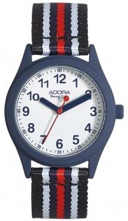 Adora Young Line Armbanduhr analoge Quarz Nylonband Metallgehäuse mehrfarbig