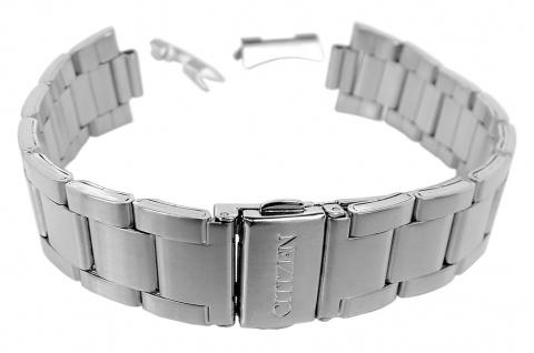 Citizen Uhrenarmband Edelstahl Band silbern mit rundem Anstoß für AN3304-51L