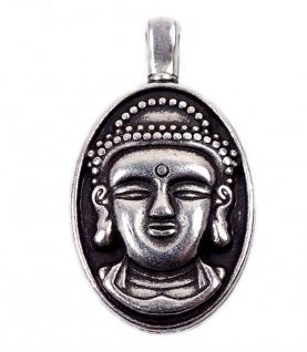 Minott Anhänger Kleiner Buddha im Antiken Design versilbert 13466