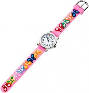 Eichmüller Kinderuhr analog rosa Armbanduhr Edelstahl Uhr Silikon bunte 34961