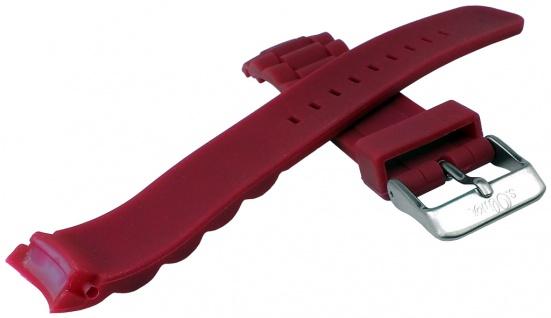 s.Oliver Uhrenarmband Silikon Band sehr weich 20mm himbeerfarben SO-2578-PQ - Vorschau 2
