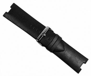 Alpha Saphir Uhrenarmband Leder schwarz AS 298A und AS 298B