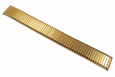Minott Flex Band Uhrenarmband Edelstahl Zugband PVD Gelbgold 22855
