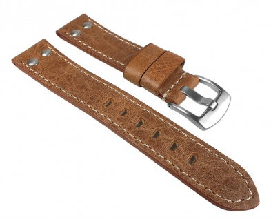 Vintage Look Uhrenarmband Leder Band Braun 24768S