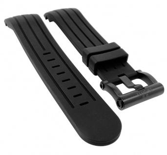 TW STEEL XL | Uhrenarmband Silikon Band 24mm - schwarz passend Gehäuse mit ? 48mm TW-152L