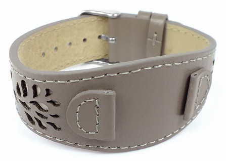 s.Oliver Ersatzband 14mm Unterlageband aus Leder grau mit Naht SO-3150-LQ