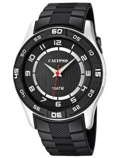 Calypso Armbanduhr Herrenuhr Analoguhr schwarz 10 ATM mit Leuchtzeigern K6062/4