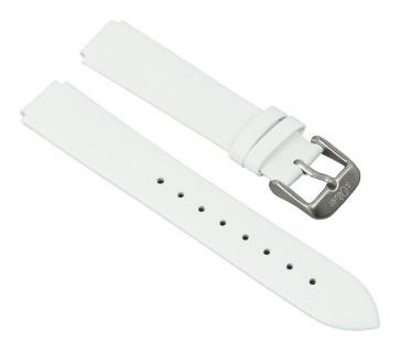 Uhrenarmband Leder glatt Band 14mm weiß passend zu s.Oliver SO-2115-LQ