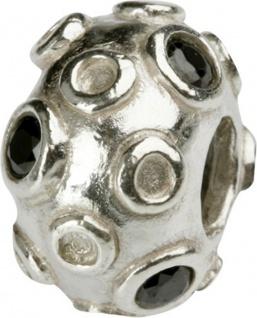 Charlot Borgen Marken Damen Bead Beads Drops Silber mit Zirkonia SCZ-14-schwarz