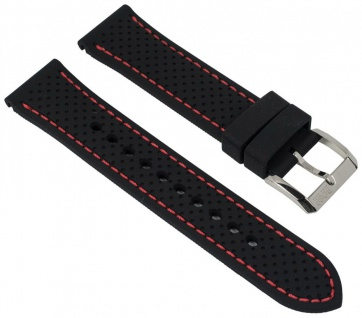 Hugo Boss Uhrenarmband Silikon schwarz 22mm passend zu 1513356 HB.87.1.14.2881
