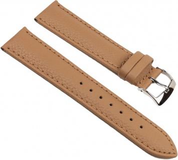 Eulit Fancy Classic Uhrenarmband Rindsleder Band Caramel 25462S