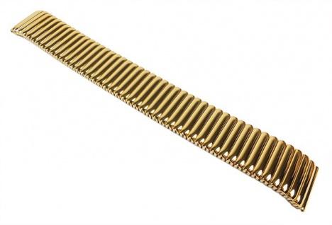 Flex Band Uhrenarmband Edelstahl Zugband Gelbgoldfarben Minott 22852G