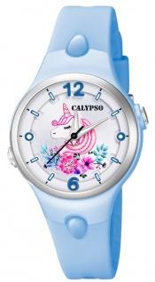 Calypso Kinderuhr analog Quarz Kunststoff blau K5783/5