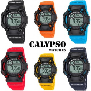 Calypso Herrenarmbanduhr Quarzuhr Kunststoffuhr mit Polyurethanband Alarm-Chronograph digital alle Modelle K5694