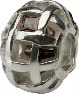 Charlot Borgen Marken Damen Bead Beads Drops Silber mit Zirkonia SCZ-08-Braun