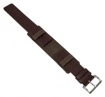 Uhrenarmband Leder/Textil Band Unterlageband 22mm braun passend zu s.Oliver SO-1193-LQ
