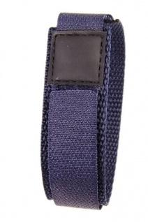 Minott Uhrenarmband Textilband Klettband Marine 16mm