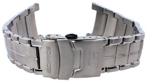 Casio Armband | Uhrenarmband Edelstahl Band Silberfarben für Ediffice EF-516T