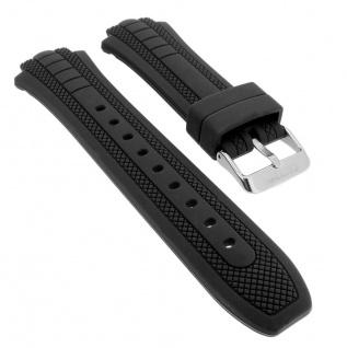Calypso Ersatzband in schwarz Band aus Kunststoff mit Breitdornschließe K5761/1